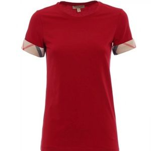 Woman's red Burberry shirt size XSmall